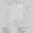 Горизонтальные алюминиевые жалюзи HOLIS 16, 25 мм. 3D схема конструкции.
