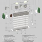 Горизонтальные алюминиевые жалюзи HOLIS 50 мм.