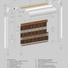 Комбо (День-Ночь) B-49. 3D схема конструкции.