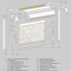 UNI 2 для пластиковых окон. 3D схема конструкции.