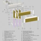 Вертикальные мультифактурные жалюзи. 3D схема конструкции.