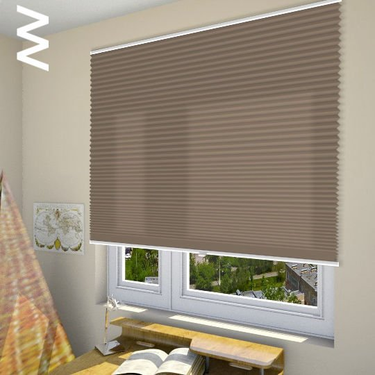 Плиссе Cara 10006. 3D модель общий вид.